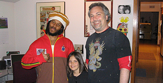 Ross Hogarth with Ziggy Marley and Brady Hogarth